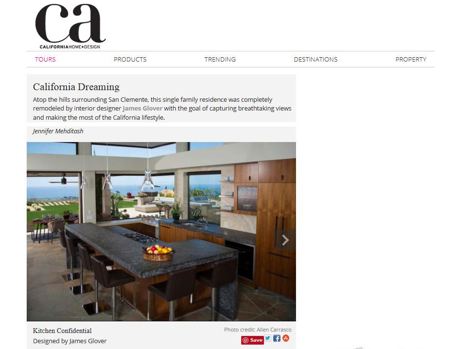 California Dreaming – James Glover Designs